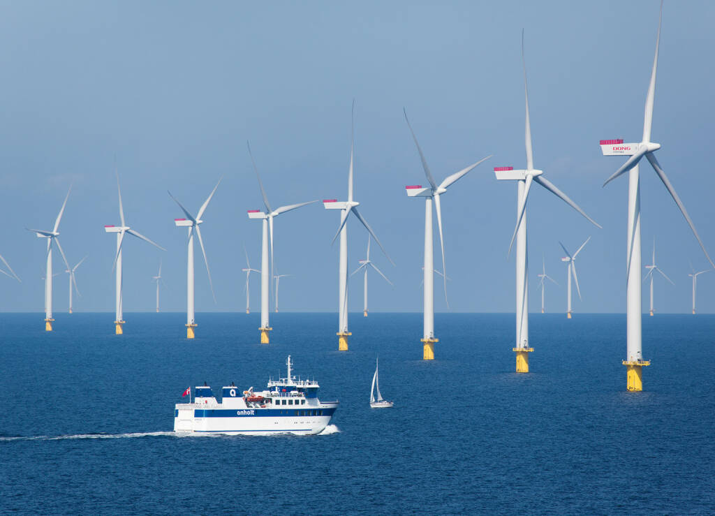 Offshore-Windkraftwerk Anholt im Kattegat, Dänemark, © Siemens AG (Homepage) (28.03.2014)