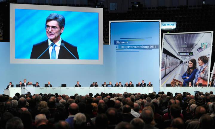 Hauptversammlung Januar 2014 in der Olympiahalle, München: Joe Kaeser, Vorsitzender des Vorstands der Siemens AG