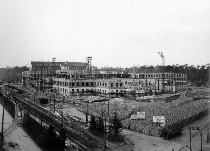 Hauptverwaltung Berlin Siemensstadt 1913, Bauphase