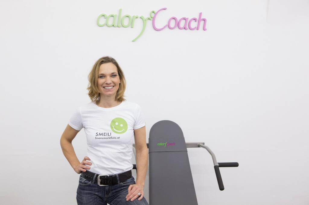 calory coach smeil -  Institutsleiterin Pia Eichwalder im neuen Studio in 1090 Wien, http://www.calorycoach.at/institute/Wien (31.03.2014)