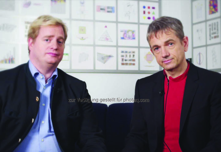 Georg F. Kalandra (1000x1000 Geschäftsführer) und Reinhard Willfort (1000x1000 Geschäftsführer): Die Crowdfunding-Plattform 1000x1000 lädt zur Veranstaltung 100 % Crowd Festival am 10.4. auf der Wiener Donau. (Bild: 1000x1000)