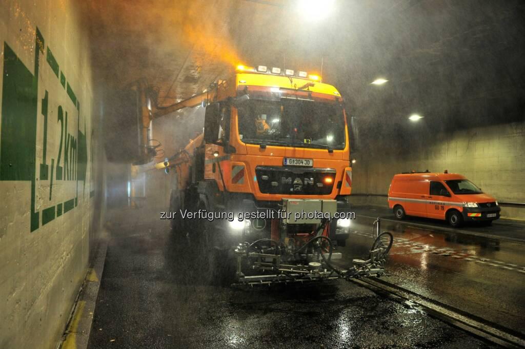 A9 Tunnelreinigung Gleinalmtunnel, Asfinag startet Frühjahrsputz in 153 Tunnels, © Aussendung (03.04.2014)