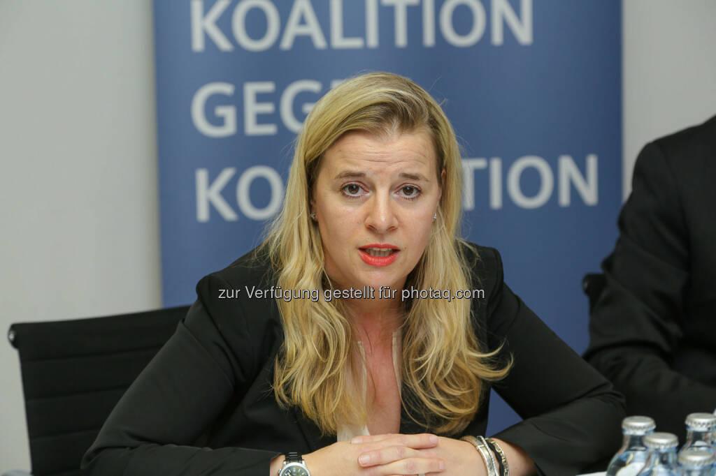 Karin Mair (Partner & National Leader von Deloitte Forensic Austria) beim Pressegespräch Whistleblower – Freund oder Feind? (Bild: Deloitte Österreich/APA-Fotoservice/Tanzer) (03.04.2014)