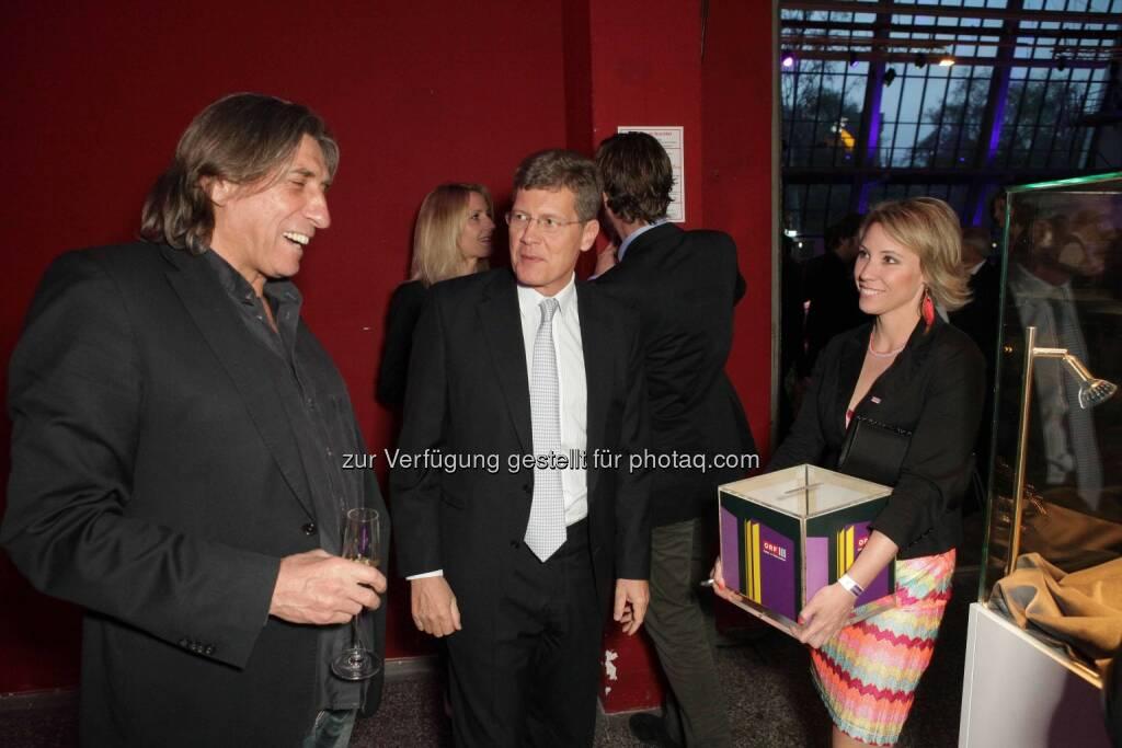 Produzent Norbert Blecha, Karl Hohenlohe, © ORF/Pichlkostner (04.04.2014)