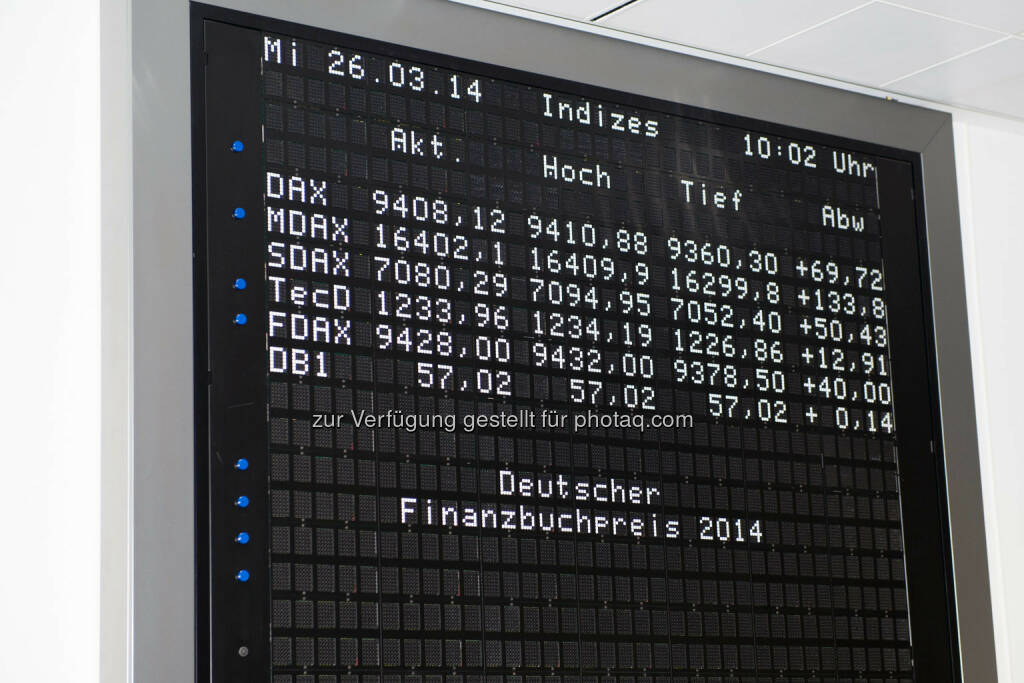 DAX - Frankfurt, GER - March 26, Deutscher Finanzbuchpreis 2014, Alte Börse  , © Ulrich Roth / ulrich-roth.de (05.04.2014)