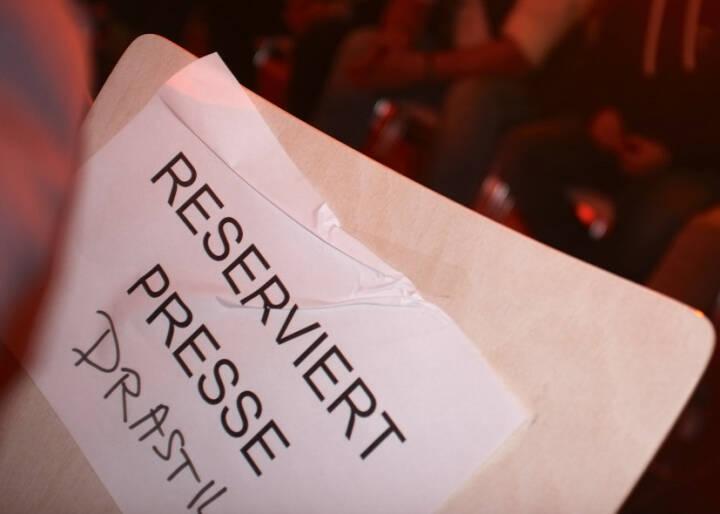 Reserviert Presse Drastil