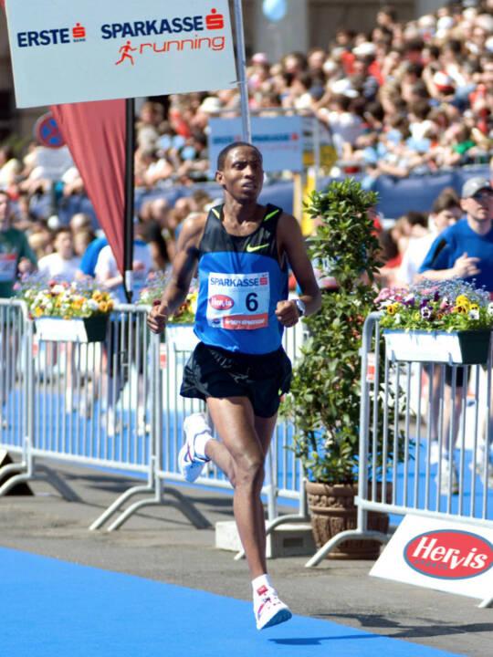 Getu Feleke, hier Debütant beim Vienna City Marathon 2009, kommt am 13. April als Top-Favorit mit einer Weltklassezeit an den Start. (C) Vienna City Marathon