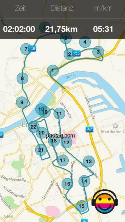 Map der Strecke
