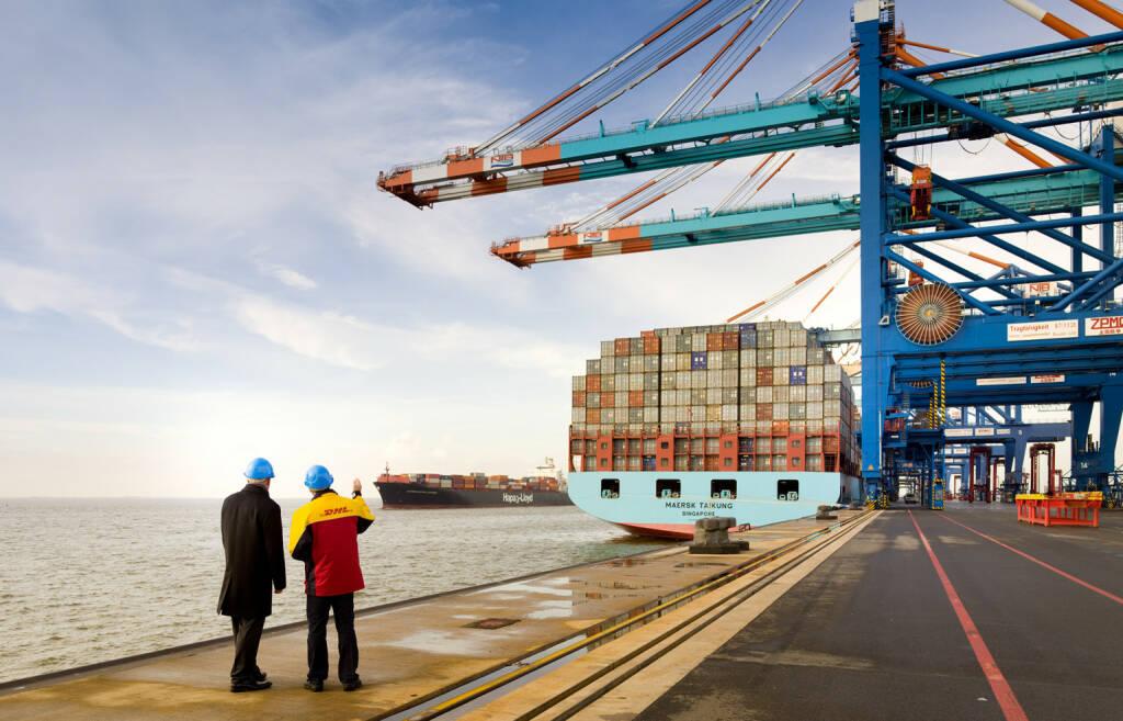 DHL Global Forwarding - Containerschiff, © Deutsche Post (Homepage) (06.04.2014)