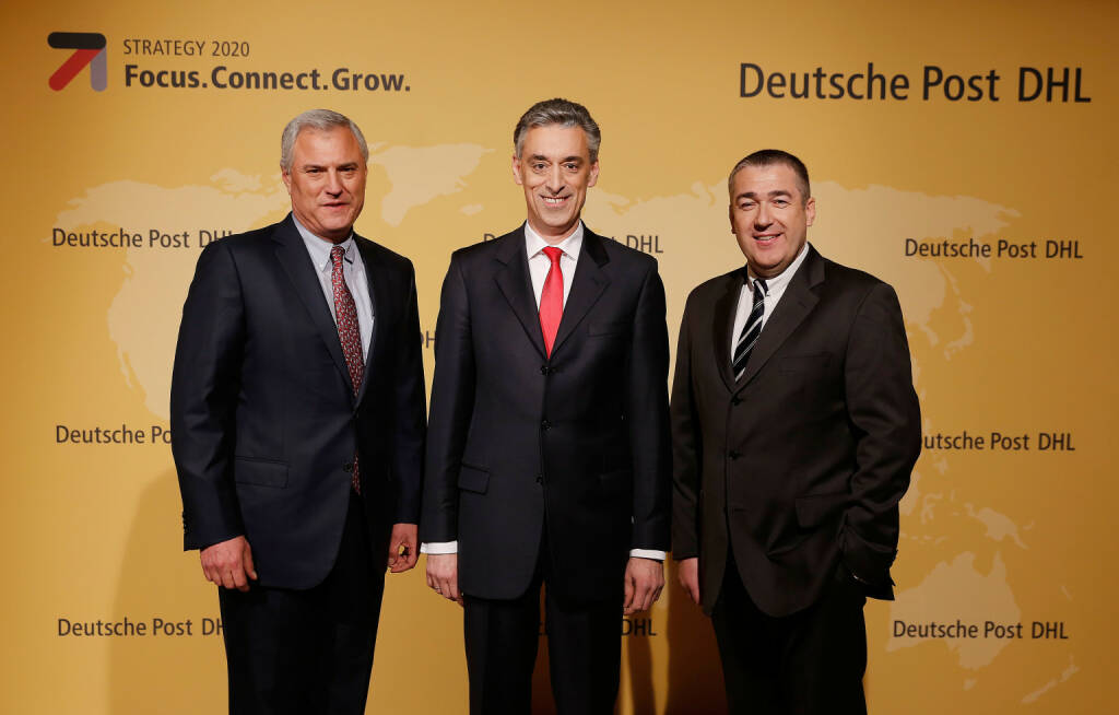 Larry Rosen, Frank Appel, Jürgen Gerdes, Deutsche Post AG, © Deutsche Post (Homepage) (06.04.2014)