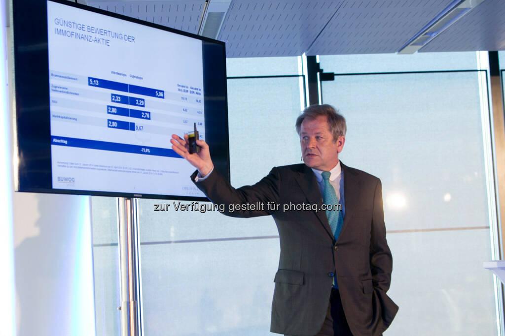Eduard Zehetner, CEO Immofinanz, siehe auch: http://blog.immofinanz.com/de/2014/04/09/immofinanz-infos-rund-um-buwog-abspaltung/ , © Martina Draper für Immofinanz (07.04.2014)