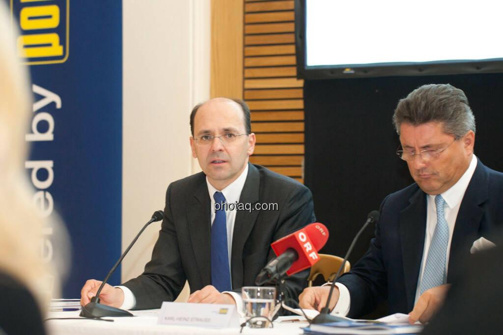 Christian B. Maier, Karl-Heinz Strauss, © Michaela Mejta für finanzmarktfoto.at (09.04.2014)