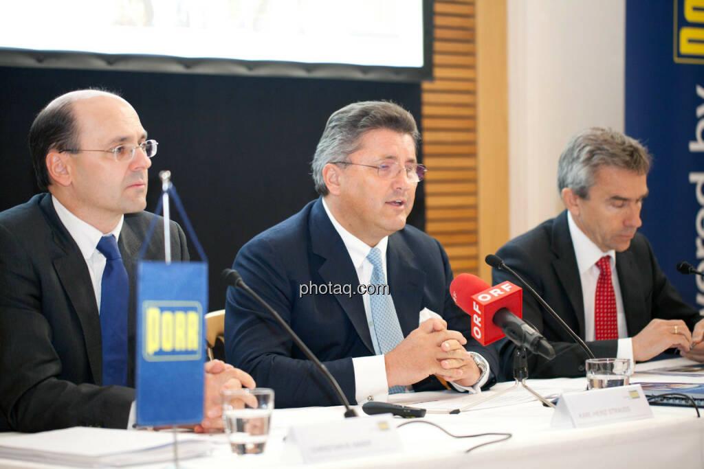 Christian B. Maier, Karl-Heinz Strauss, J. Johannes Wenkenbach, © Michaela Mejta für finanzmarktfoto.at (09.04.2014)