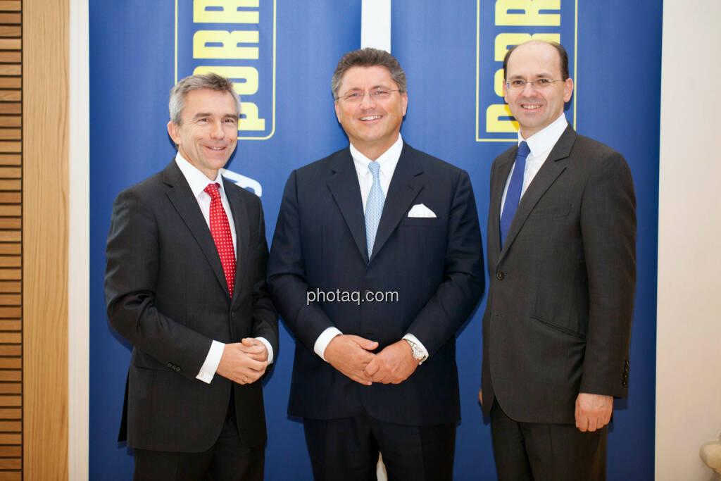 J. Johannes Wenkenbach, Karl-Heinz Strauss, Christian B. Maier, © Michaela Mejta für finanzmarktfoto.at (09.04.2014)
