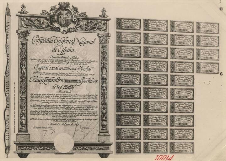 Preference bearer share (1925), Telefonica