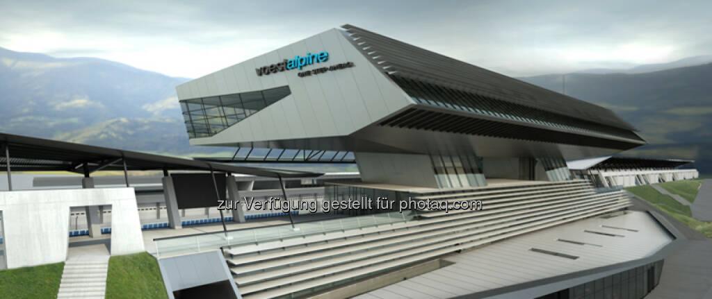 """voestalpine und Projekt Spielberg präsentieren den """"voestalpine wing"""" – das Tor zum Red Bull Ring (Bild: voestalpine) (10.04.2014)"""