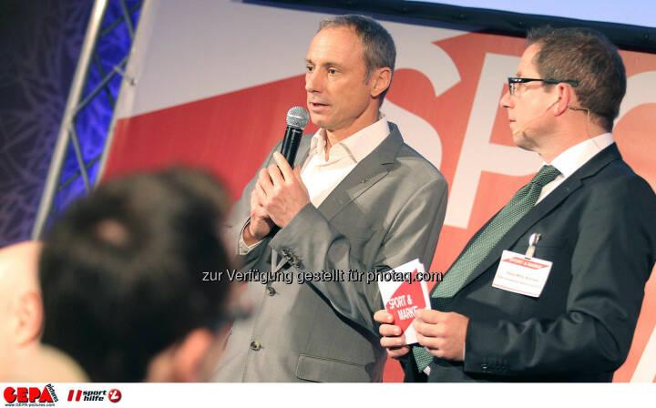 Geschaeftsfuehrer Anton Schutti (Sporthilfe) und Geschaeftsfuehrer Hans-Willy Brockes (ESB Europaeischen Sponsoring-Boerse). (Foto: GEPA pictures/ Christopher Kelemen)