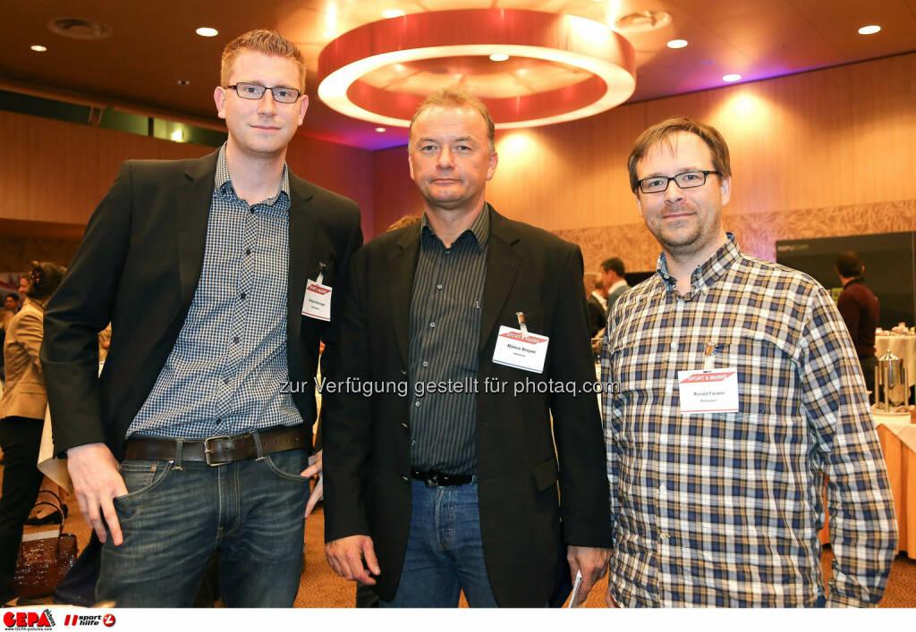 Raffael Weninger (Balloonart), Geschaeftsfueher Markus Brejzek (Internova) und Ronald Faustin (Balloonart). (Foto: GEPA pictures/ Christopher Kelemen)  (10.04.2014)