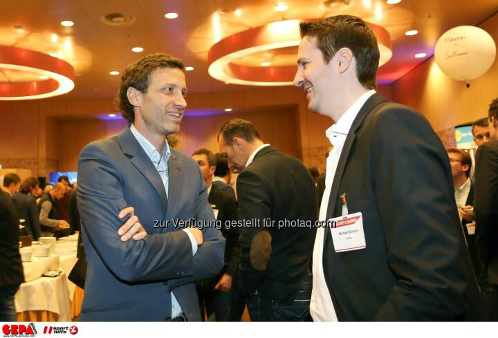 Dieter Heger und Michael Schmid. (Foto: GEPA pictures/ Christopher Kelemen)