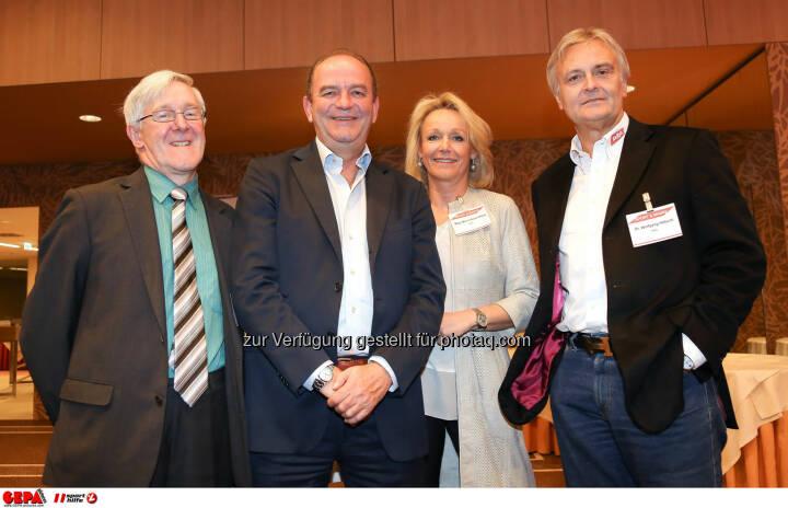 Manfred Dimmy, Herbert Prohaska, Marketing Director Maria Bauernfried und Geschaeftsfuehrer Wolfgang Hoetschl (Kelly). (Foto: GEPA pictures/ Christopher Kelemen)