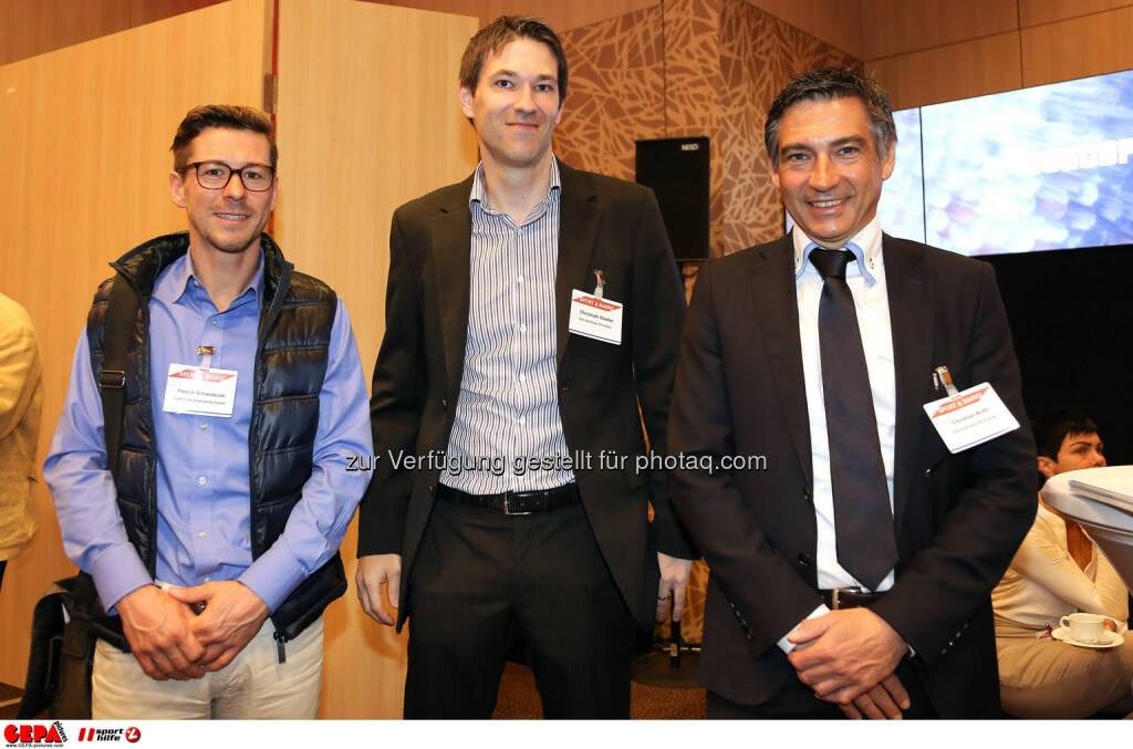 Patrick Schwiderski , Christoph Stadler und Christian Kohl (Hutchison Drei Austria). (Foto: GEPA pictures/ Christopher Kelemen) (10.04.2014)