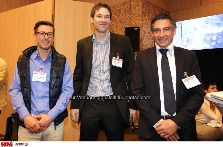 Patrick Schwiderski , Christoph Stadler und Christian Kohl (Hutchison Drei Austria). (Foto: GEPA pictures/ Christopher Kelemen)