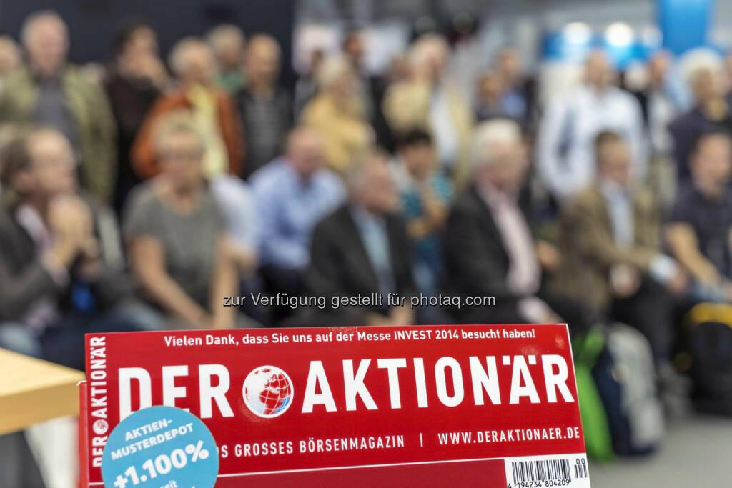 Magazin Der Aktionär (Bild: Messe Stuttgart) (11.04.2014)