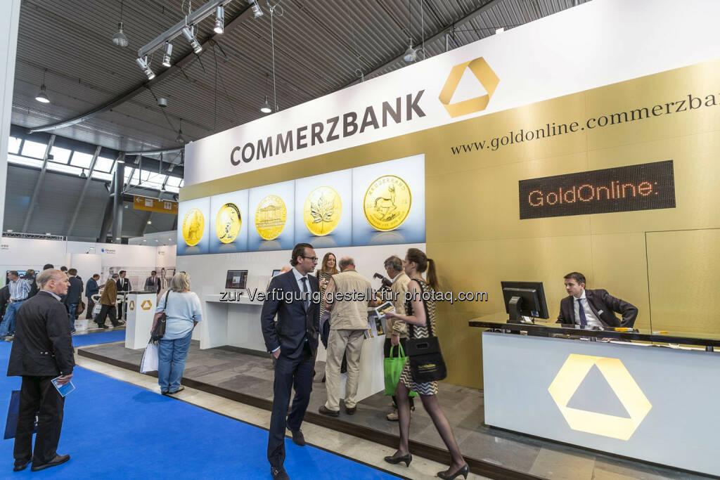 Blick auf den Stand des Ausstellers  Commerzbank  in Halle 4 (Bild: Messe Stuttgart) (11.04.2014)