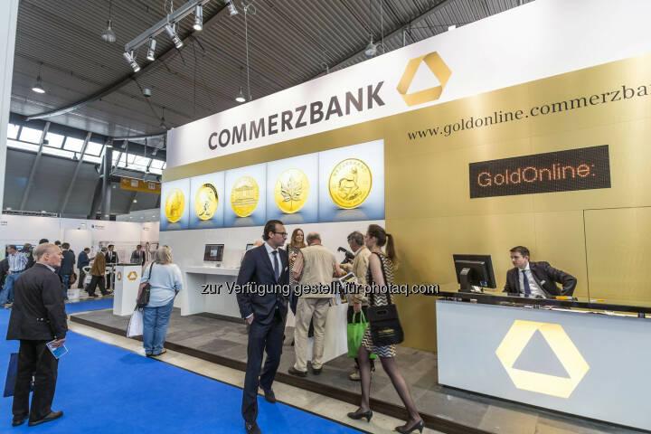 Blick auf den Stand des Ausstellers  Commerzbank  in Halle 4 (Bild: Messe Stuttgart)