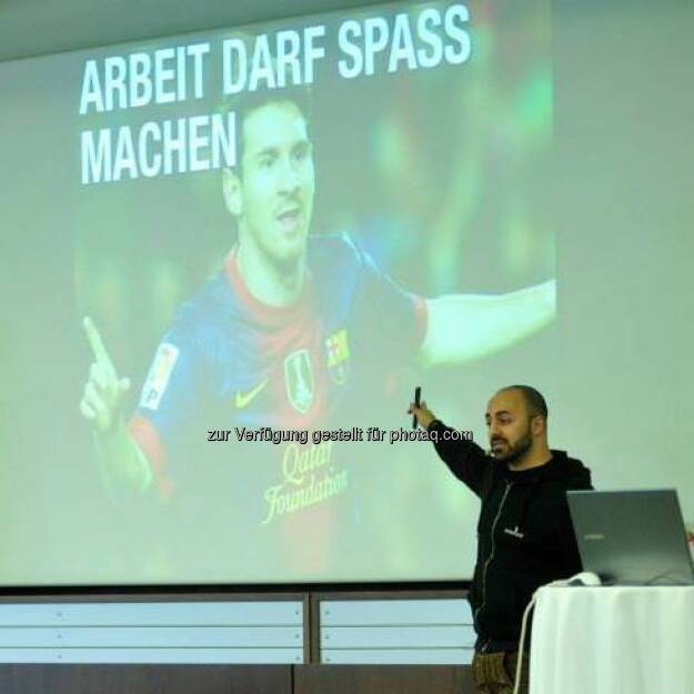 Lionel Messi Ali Mahlodji (whatchado): Arbeit darf Spass machen, © Aussendung (12.04.2014)