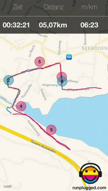 Runplugged-Test am Millstädter See (by Maximilian Nimmervoll, Tailored Apps) (12.04.2014)