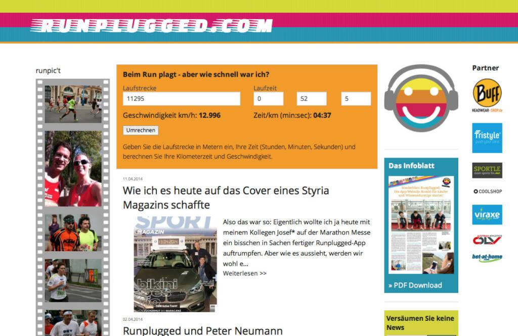 Auf der http://www.runplugged.com kann man nachrechnen. Die Zeit von der Uhr eingegeben: Schnitt 4:37 (13.04.2014)