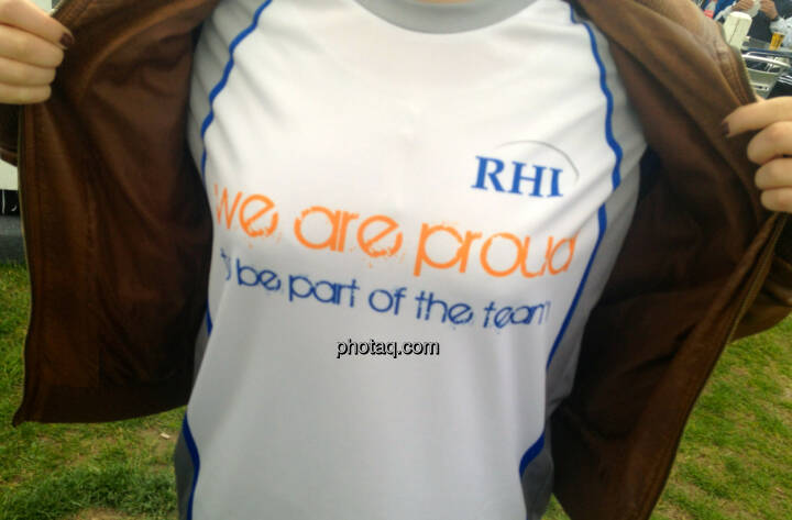 RHI - we are proud to bei part of the team