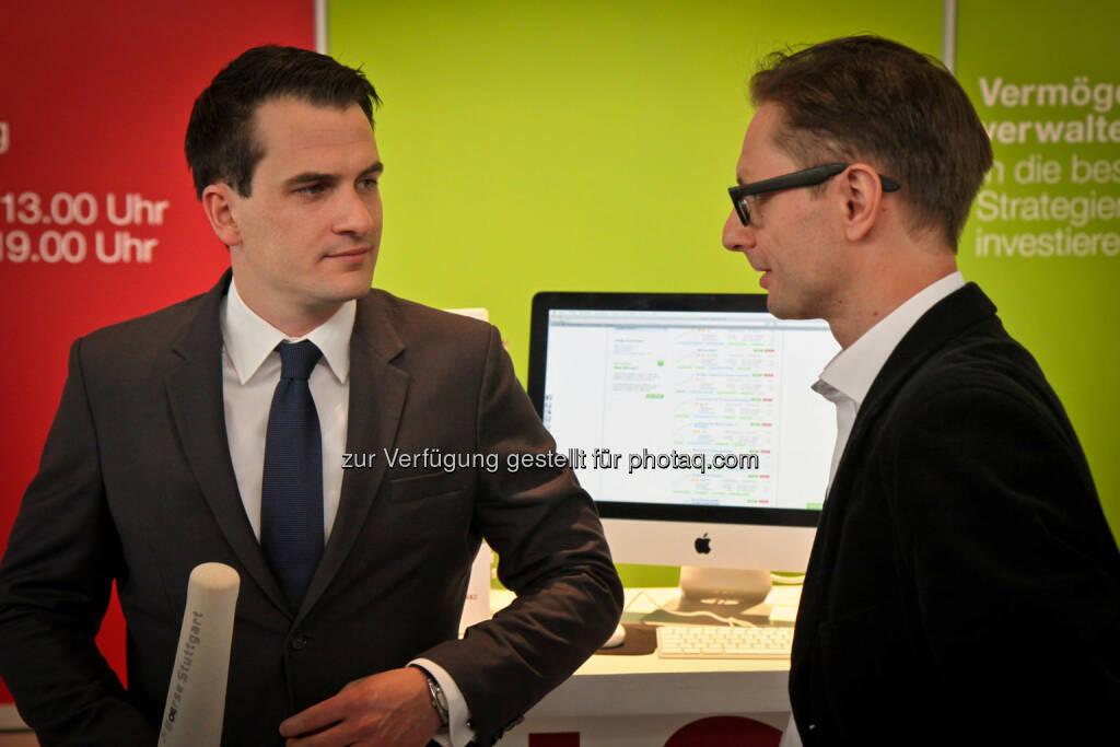 Andreas Kern (rechts), © wikifolio (14.04.2014)