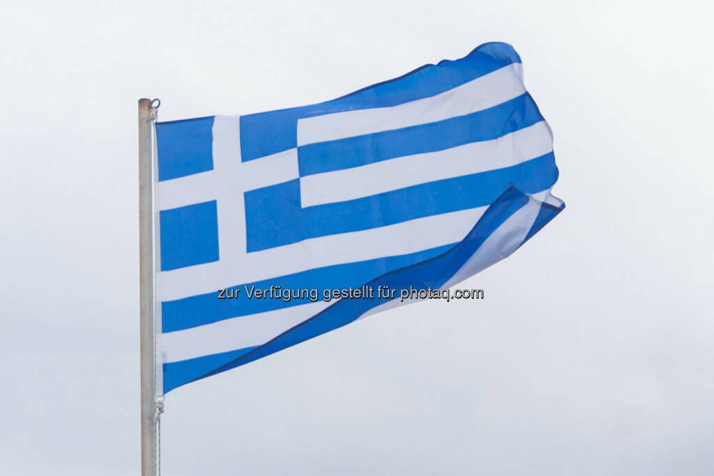 Fahne, Griechenland, © Martina Draper (15.04.2014)