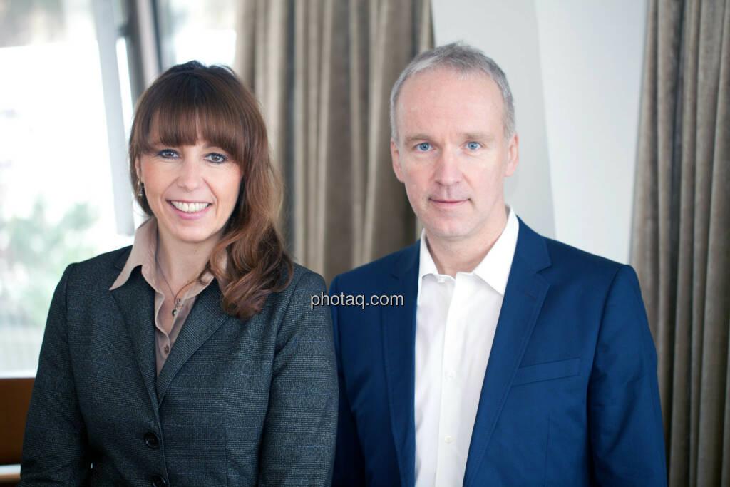 Silke Schlünsen (Close Brothers Seydler Bank), Christian Drastil, © Michaela Mejta (17.04.2014)