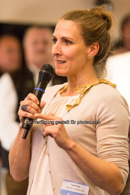 Isabel Philipp stellt ihr laufendes Projekt Finally You vor., &copy; Texte und Bilder von <a href=