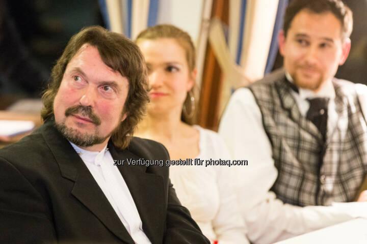 Auch Roland Baumgartner und seine Romantik Theater-Crew