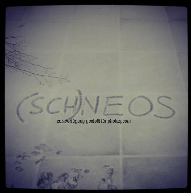 (Sch)neos by Neos, Instagram-Pic mit freundlicher Genehmigung von Beate Meinl-Reisinger (19.12.2012)