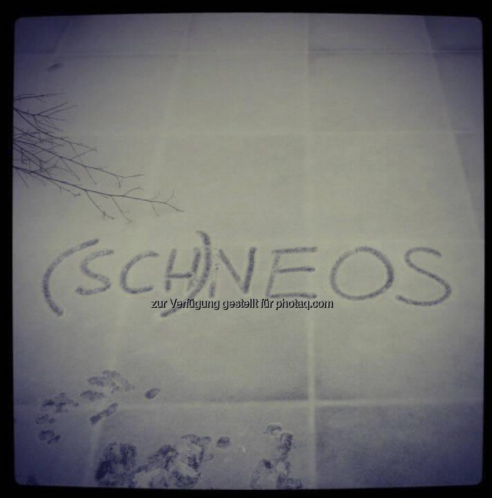 (Sch)neos by Neos, Instagram-Pic mit freundlicher Genehmigung von Beate Meinl-Reisinger