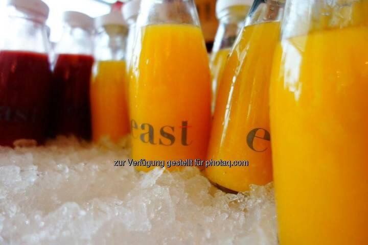 Orangensaft Eis