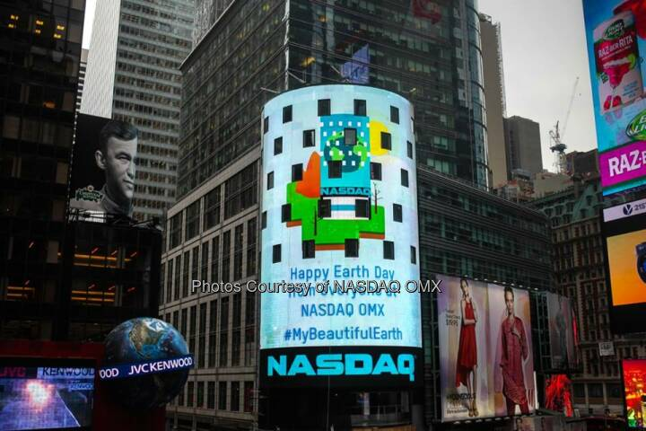 Nasdaq, Earth Day Thanks to everyone who participated in our #EarthDay activities with Google+. #MyBeautifulEarth  Source: http://facebook.com/NASDAQ