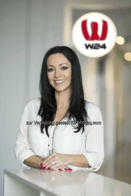 W24 - das Wiener Stadtfernsehen: Petra Schilling übernimmt den Bereich Vertriebsmanagement bei W24.  Fotocredit: Eva Kelety-Troyer  (23.04.2014)