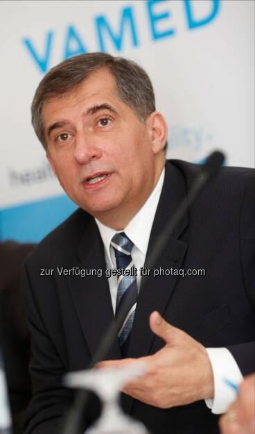 Ernst Wastler, CEO Vamed AG: Gesundheitskonzern Vamed baut internationale Marktpräsenz aus - Umsatz 2013 erstmals über 1 Mrd. Euro - 15 % Zuwachs beim Auftragsbestand, Anteil des Dienstleistungsgeschäfts wächst / Gute Basis für zukünftiges Wachstum (c) Ludwig Schedl (24.04.2014)