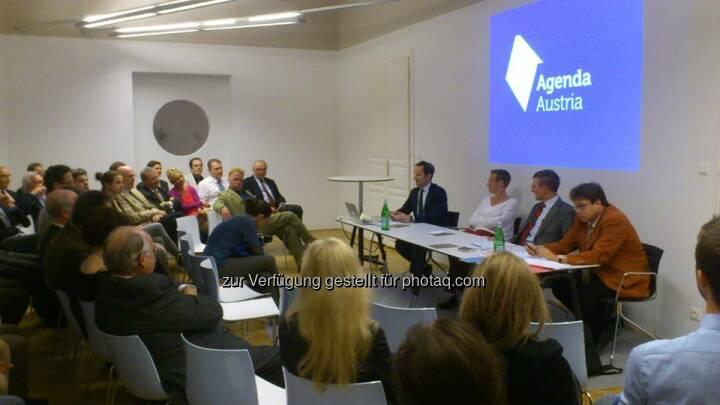 Agenda Austria - Podiumsdiskussion zum Thema Wie gerecht sind Erbschaftsteuern?  Source: http://twitter.com/AgendaAustria