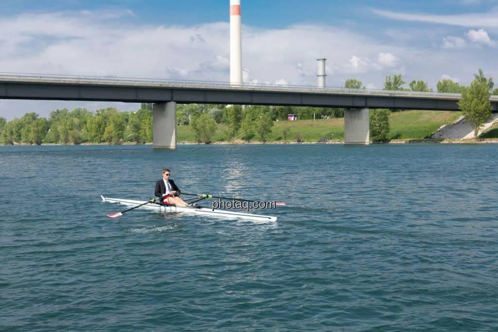 Ruhe, Wasser, Gerald Pollak, Sport und Business, rot-weiss-rot, © finanzmarktfoto.at/Martina Draper (27.04.2014)