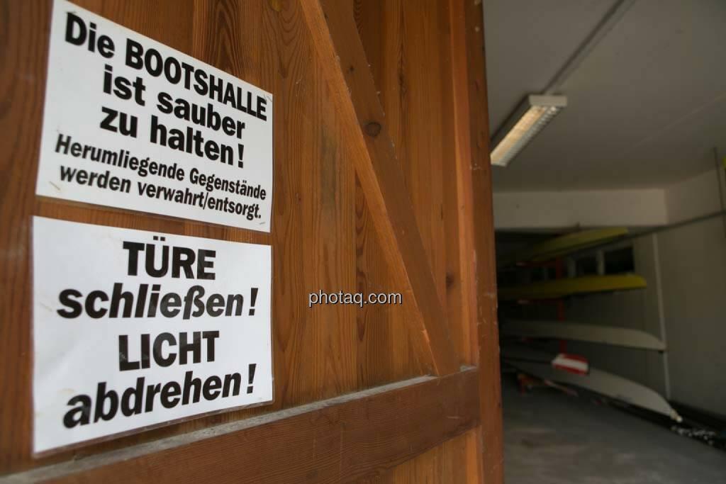 Sauber, Türe, Finster Wiener Ruderverband, © finanzmarktfoto.at/Martina Draper (27.04.2014)