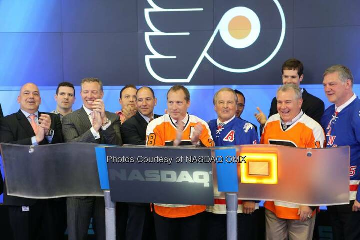 NHL's Philadelphia Flyers and New York Rangers ring the NASDAQ Closing Bell! #dreamBIG  Source: http://facebook.com/NASDAQ