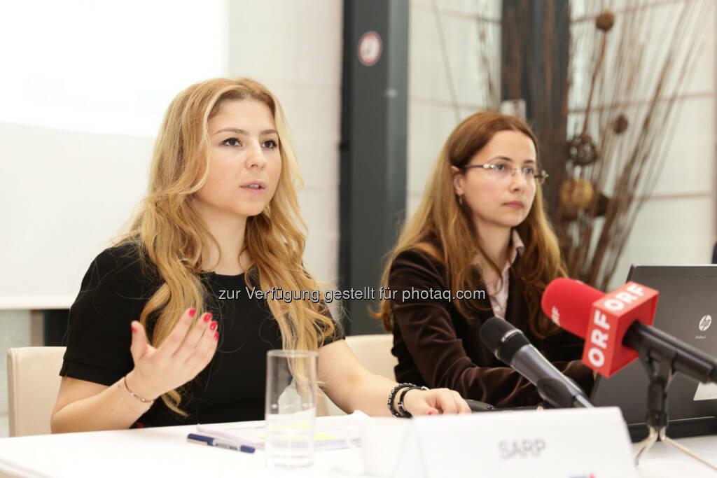 Sevda Sarp (Türkei-Aktienanalystin der Erste Asset Management) und Amalia Ripfl (Fondsmanagerin ESPA) (27.04.2014)