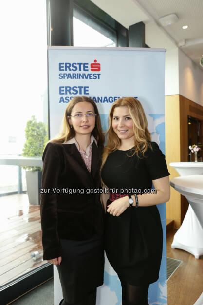 Amalia Ripfl (Fondsmanagerin ESPA), Sevda Sarp (Türkei-Aktienanalystin der Erste Asset Management) (27.04.2014)